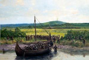 Bondehæren samles før slaget
